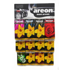 Ароматизатор AREON бумажный EURO Ассорти МИКС/уп-60
