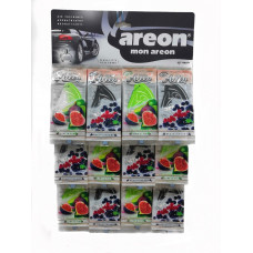 Ароматизатор AREON бумажный EURO Ассорти МИКС /уп-60
