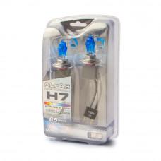 Лампа газонаполненная H7 12V 85W AVS ALFAS Pure-White кт.2+2Т-10 (6000К)
