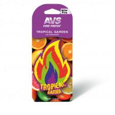 Ароматизатор AVS AFP-007 Fire Fresh (Tropical garden) (бумажные/ уп 10