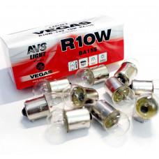 Лампа 12V R10W (BA15S) BOX (10 шт.) AVS Vegas A78186S