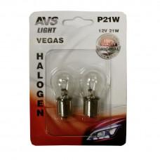 Лампа 12V P21W(BA15S) бл.2 шт.AVS Vegas A78475S