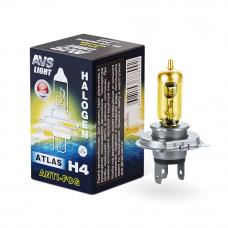 Лампа галогенная AVS ATLAS ANTI-FOG / BOX желтый H4.12V.60/55W (1 шт.) A78899s