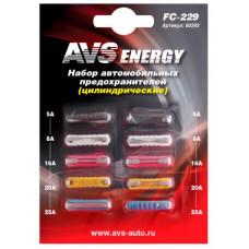 Набор предохранителей AVS FC-229 (цилиндрические) в блистере 80393
