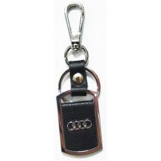 Брелок для ключей Audi металл/кожа