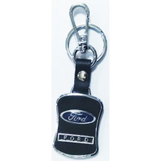 Брелок для ключей Ford металл/кожа