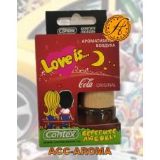 Ароматизатор Contex Love is... в деревянной бутылке Cola Original
