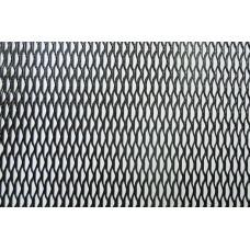 Сетка для бампера и решётки радиатора металл чёрная 20см / 120см крупная