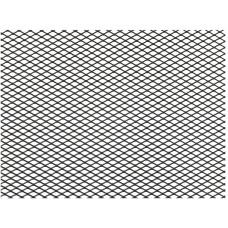 Сетка для бампера и решётки радиатора металл чёрная 20см / 120см мелкая