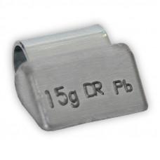 Грузик балансировочный навесной для литых дисков 15г уп/100шт