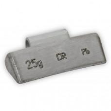 Грузик балансировочный навесной для литых дисков 25г уп/100шт