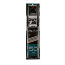 Шторка солнцезащитная Тканевая Premium L 50см/42-47см чёрная