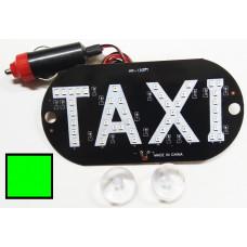 Знак TAXI в прикуриватель зелёный