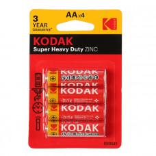 Батарейки пальчиковые Kodak AA уп/4 шт