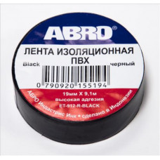 Изолента ПВХ 20мм х 18,2мм ABRO чёрная